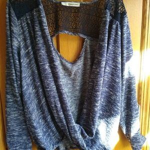 Maurice's 2x Blue blouse